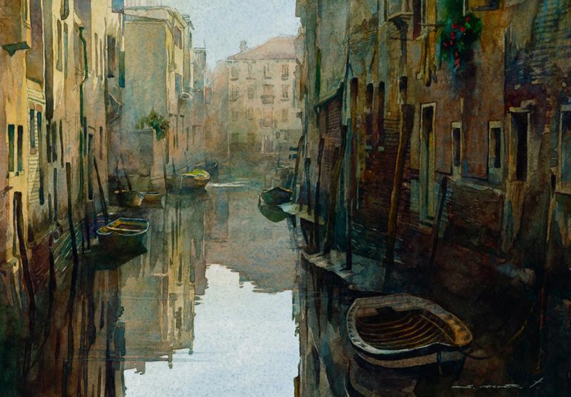 Stan Miller Watercolor-Venice