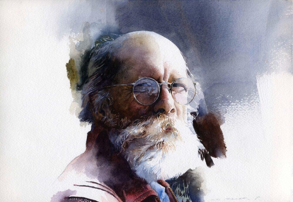Stan Miller Watercolor Portrait